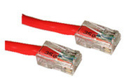 3ft Cat5E Crossover Patch Cable Red