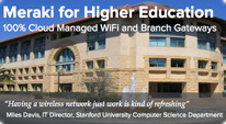 Meraki Higher Education